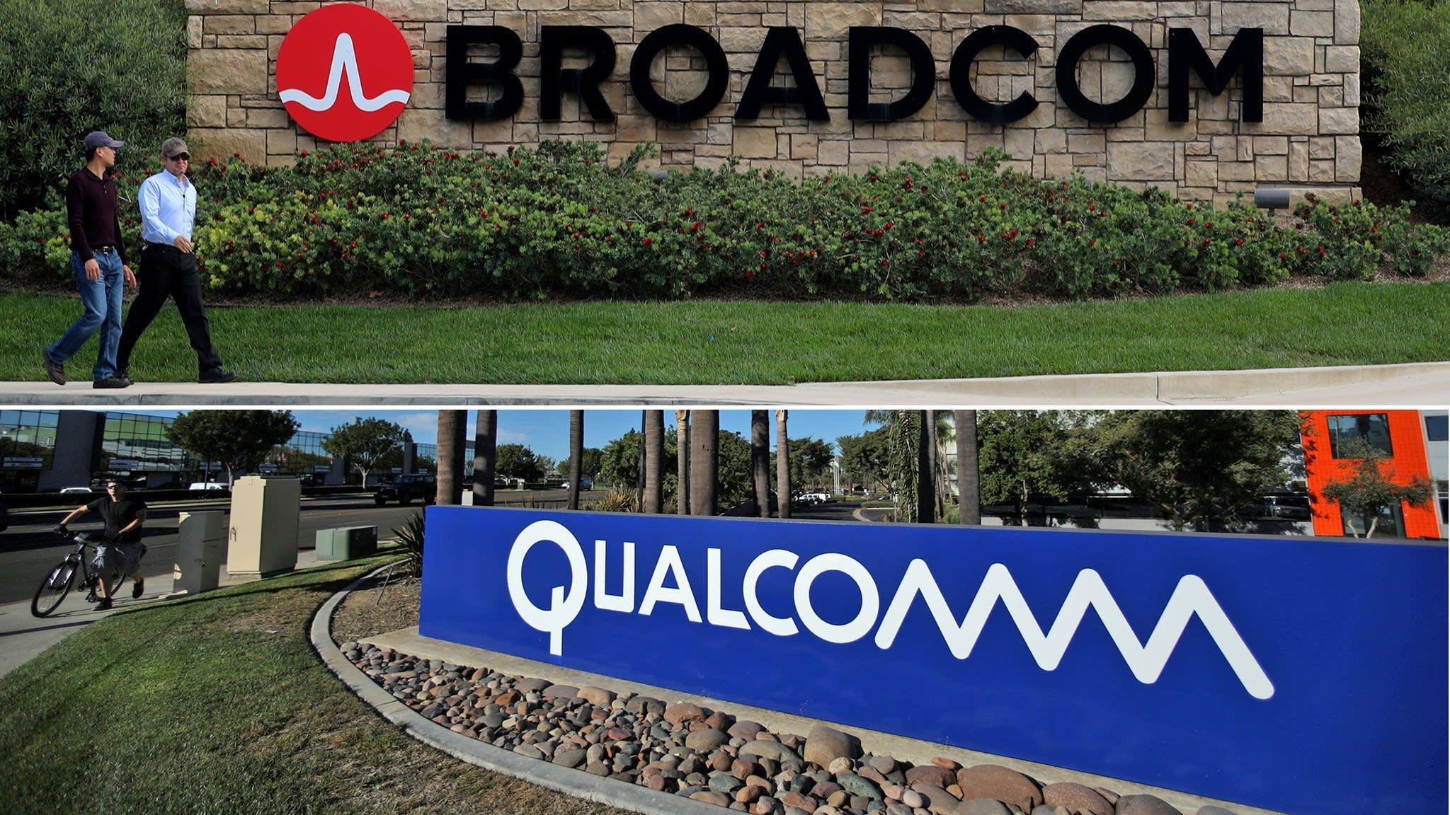 Qualcomm opens narrow path to Broadcom deal