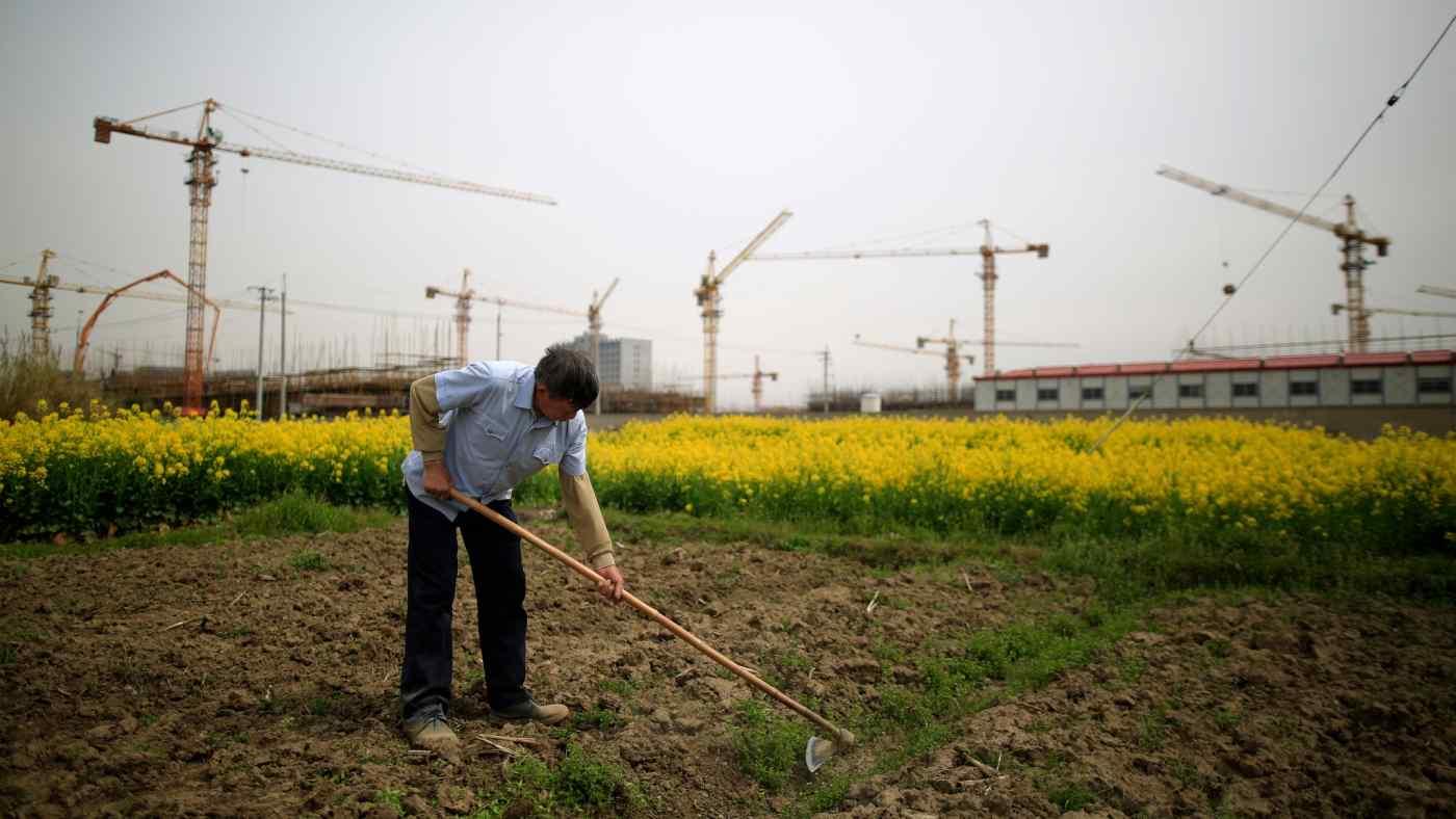A farmer in China