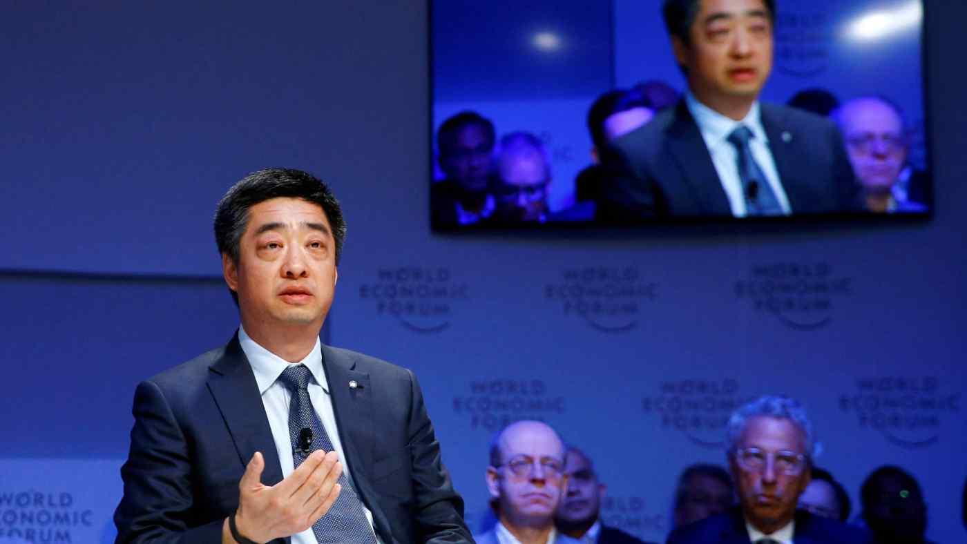 Ken Hu, deputy chairman of Technologies,spoke atthe annualmeeting of the World Economic Forumin Davos, Switzerland, on Jan. 22.