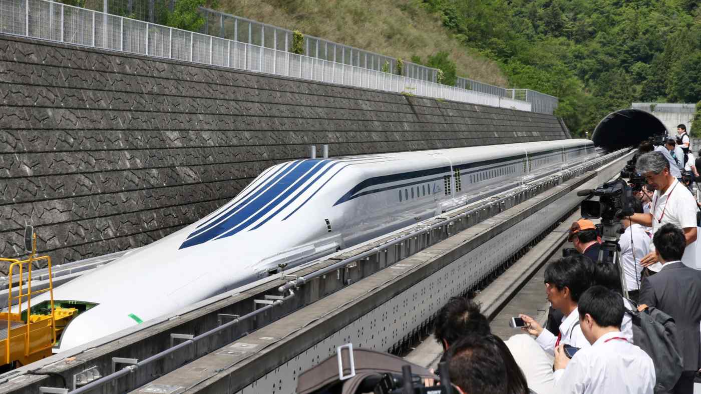 Maglev train service between Tokyo and Nagoya is slated to start in 2027.