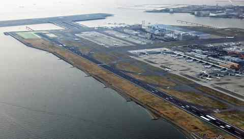 Haneda Airport in Tokyo. Long-haul Japan-U.S. flights are a valuable earning source for airlines.