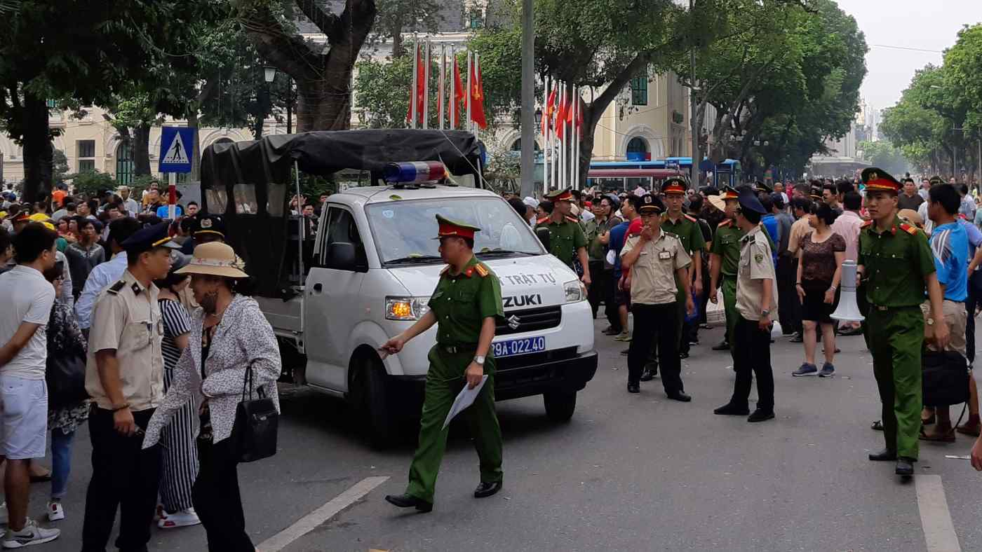 Police dispersed a protest in Hanoi in June over the draft special economic zone law, which was viewed as favoring China.
