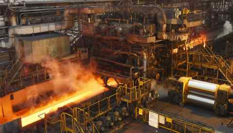 A Nippon Steel & Sumitomo Metal works in Japan's Chiba Prefecture. The steelmaker faces the seizure of some of its shares in a South Koreanjoint venture.