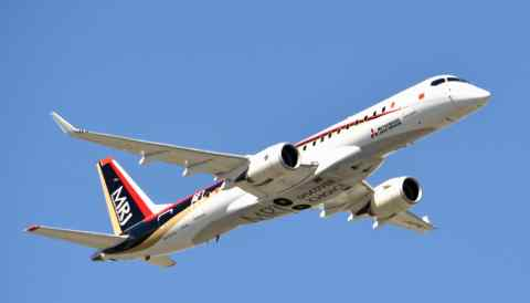 Five delays and ballooning costs have left the Mitsubishi Regional Jet's developer with negative net worth of about $980m.