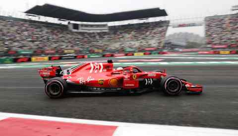 A Formula One race is held in Mexico City on Oct. 27.
