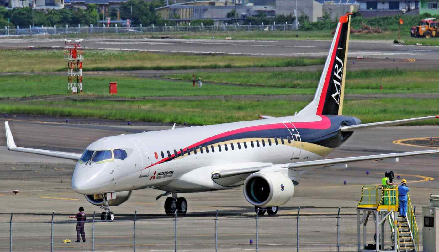 The Mitsubishi Regional Jet has been plagued by production delays. (Photo by Takuya Imai)