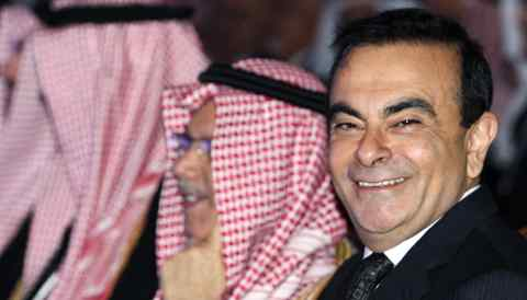 Carlos Ghosn at a 2009event in Riyadh. The arrested Nissan ex-chairman allegedly used company funds to reward a Saudi associate for help with a personal investment.