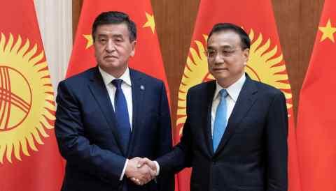 Sooronbai Jeenbekov and Li Keqiang