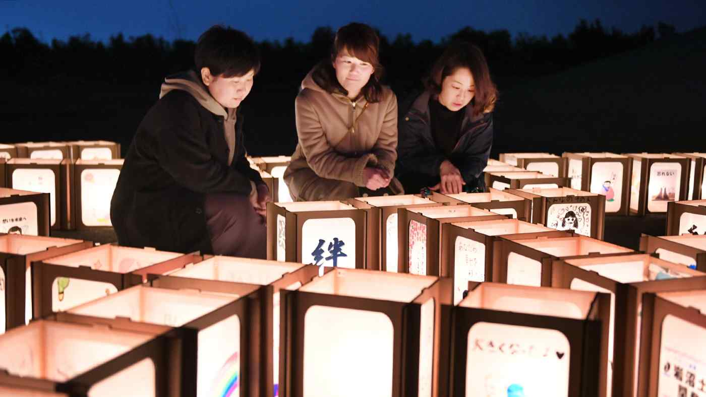 A memorial service for victims of the 2011 earthquake and tsunami in Miyagi Prefecture on March 10. (Photo by Karina Noka)