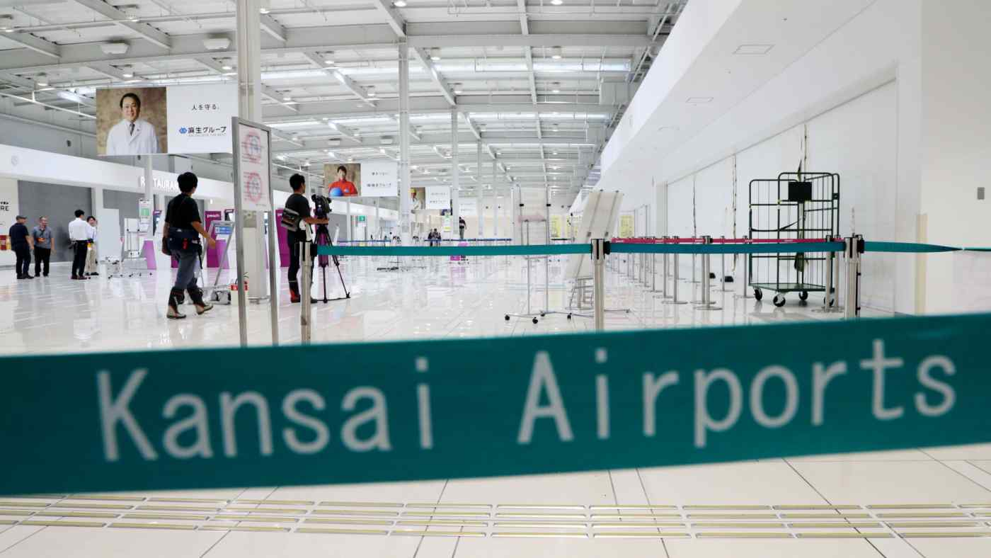 Kansai Airport's Terminal 2, which was relatively unscathed, is scheduled to reopen on Friday. (Photo by Nozomu Ogawa)