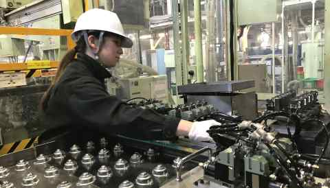 Japan's female employment rate has tended to drop for women in their 30s as they have and raise children, then rise again in their 40s.