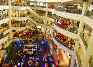 Inside the Robinsons mall in Malate, Manila  (Photo by Simon Roughneen)
