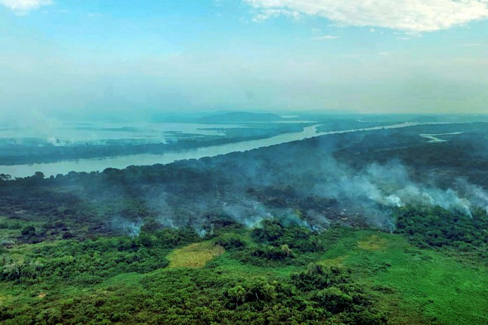 Fires smoulder in Mato Grosso state. Under Salles's 'Adopt a Park' plan, international investors can directly fund the preservation of Brazil's rainforest