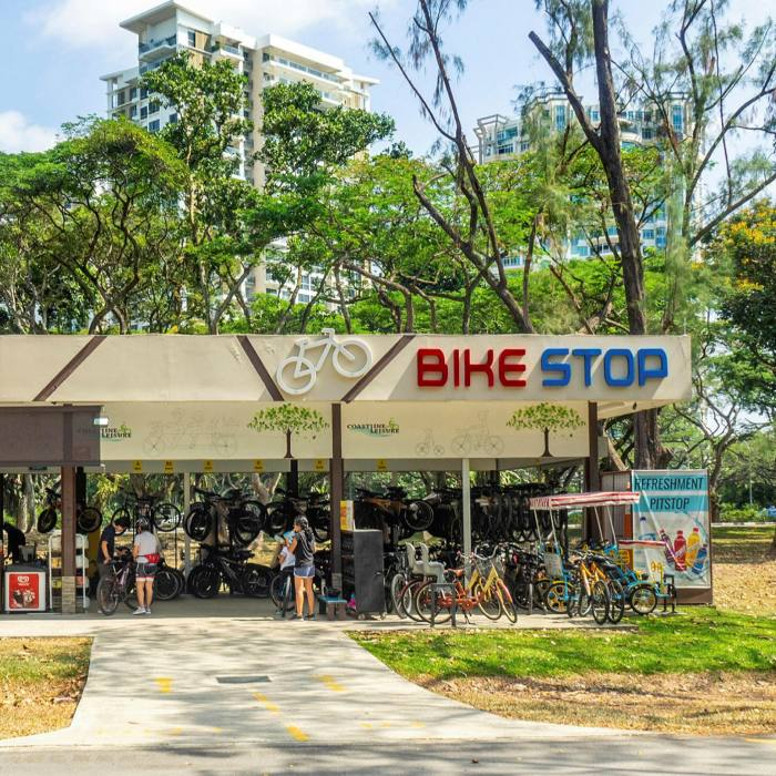 Area B, one of the bikeshops on the route