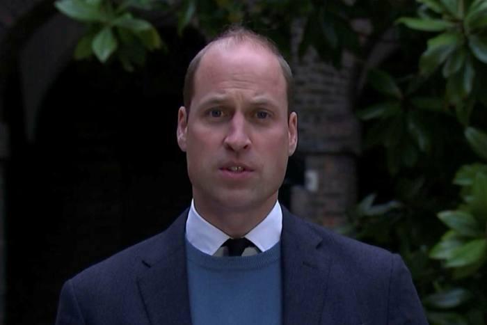 Prince William making his statement