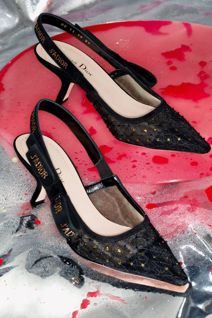 Dior tulle, grosgrain and strass J'Adior slingback pumps, £1,250