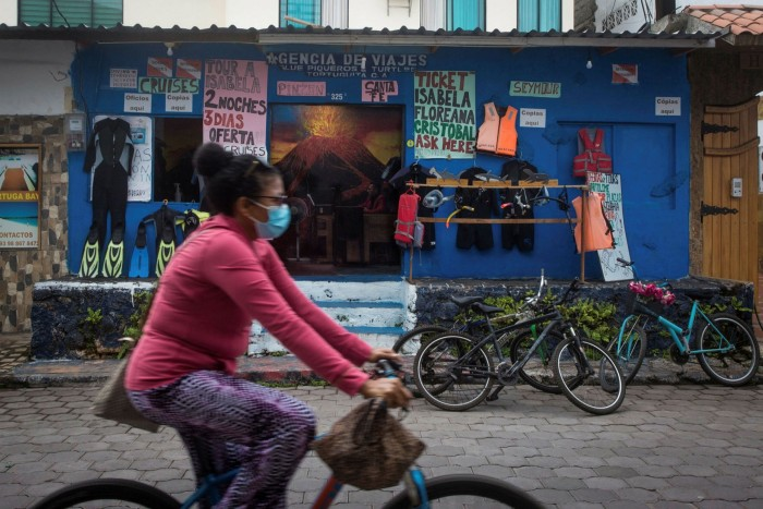Back to work: Ecuador has inoculated the vast majority of people in the Galápagos Islands in an effort to revive the destination's $350 million-per-year tourism industry