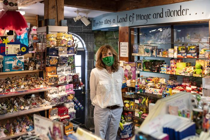 Sally Owen, owner of The Dragon's Nest toy shop in Newburyport, Massachusetts, which is closing this month. 'It's been a lot of work,' she says, 'but if I had to describe it, I'd say it's been joyous'