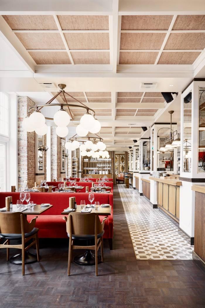 Kontrast Brasserie at Villa Copenhagen, one of the hotel's five bars and restaurants
