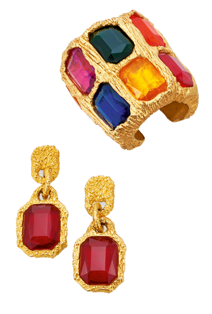 Cuff and ear clips from a Chanel byGripoix demiparure, sold for€5,250 at Sotheby's