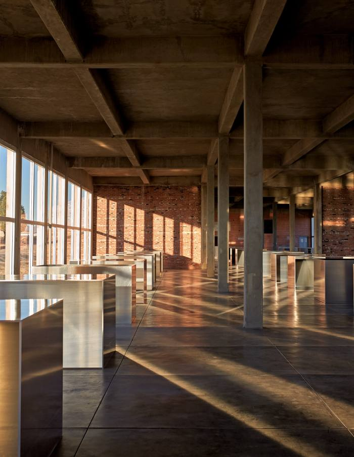 100 Untitled aluminium works by Donald Judd at the Chinati Foundation