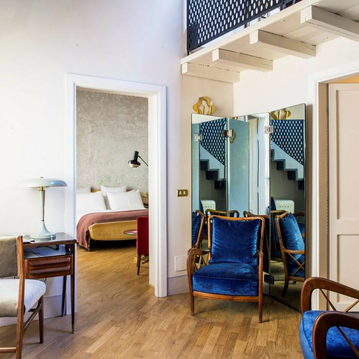 ...whose midcentury Italian decor prevails throughout the hotel