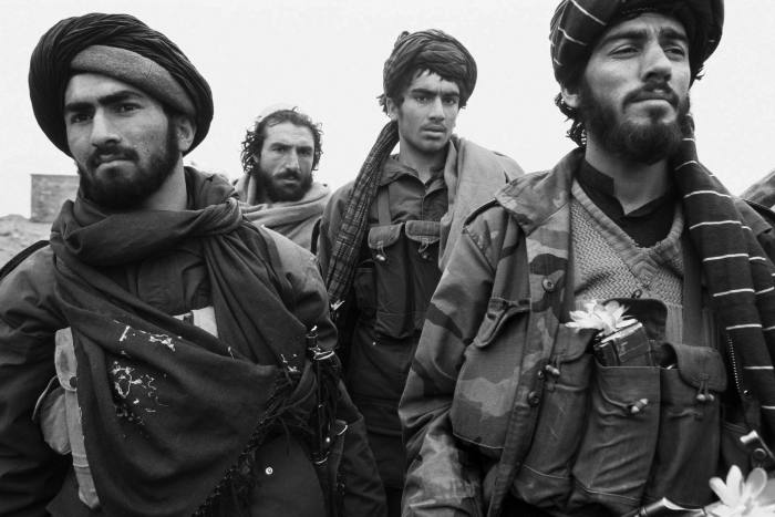 Taliban soldiers in Kabul in February 1995