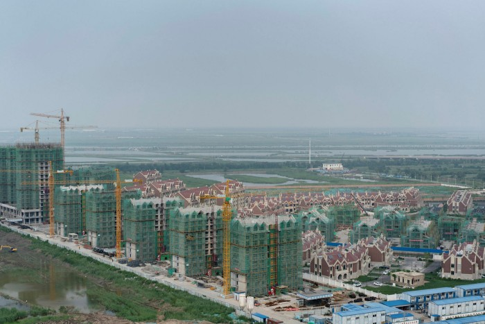 Tianjin, where large areas of new residential districts are built on vacant land