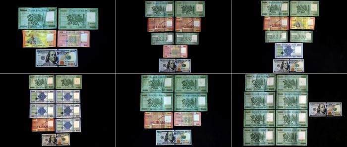 The value of the Lebanese pound on the black market has collapsed