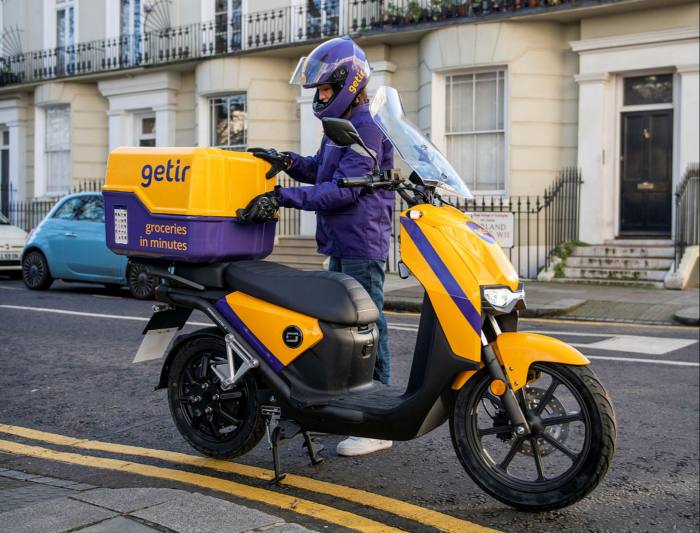 Istanbul-based Getir boasts it can deliver more than 1,000 products 'from detergent to dog food, crisps to condoms' and charges no delivery fee on orders above £10