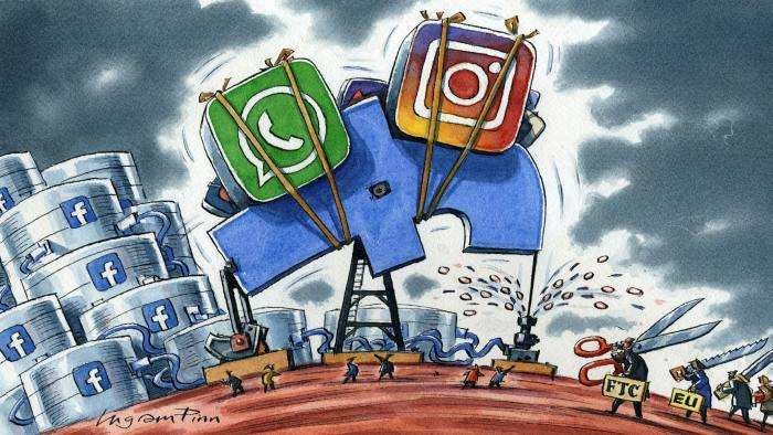 Ingram Pinn illustration of William Magnuson  comment story 'The modern day trustbusters have Facebook in their sights'