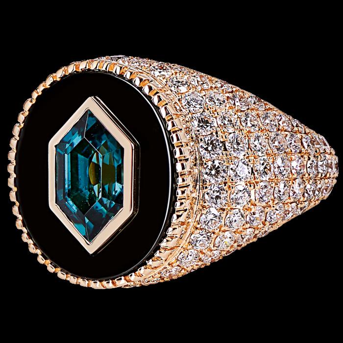O Thongthai gold,diamond andtourmaline ring, £15,400, brownsfashion.com