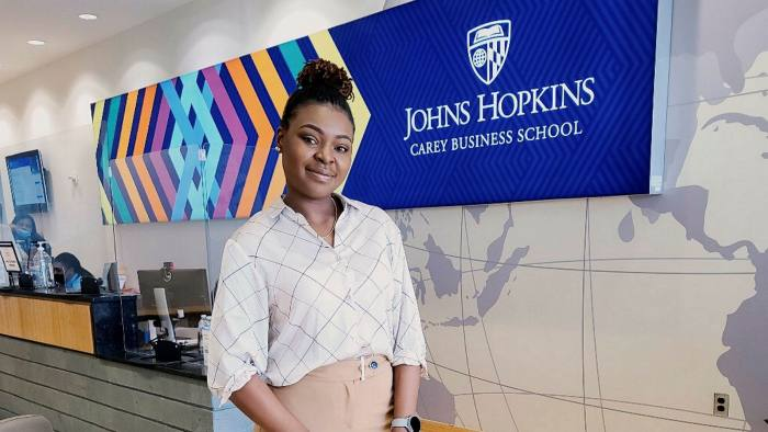 Frontline experience: Carey student Amarachi Ngwu trained as a nurse before embarking on an MBA