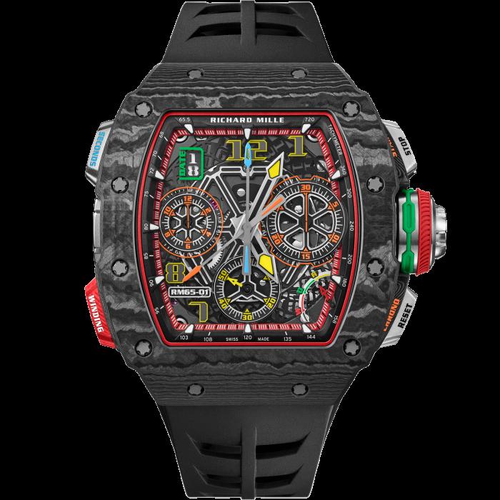 Richard Mille carbon TPT RM65-01 Automatic Split Seconds Chronograph, about £210,500