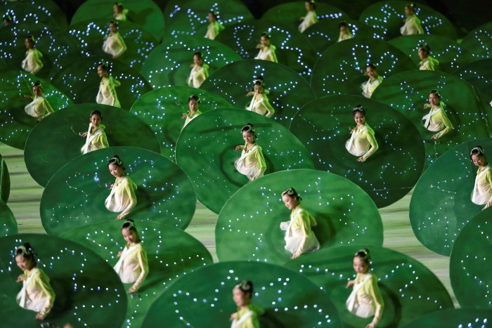 Performers during the opening ceremony of China's 14th National Games