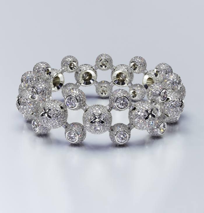 Homer high-jewellery white-gold and diamondSphere Legs bracelet, $271,500