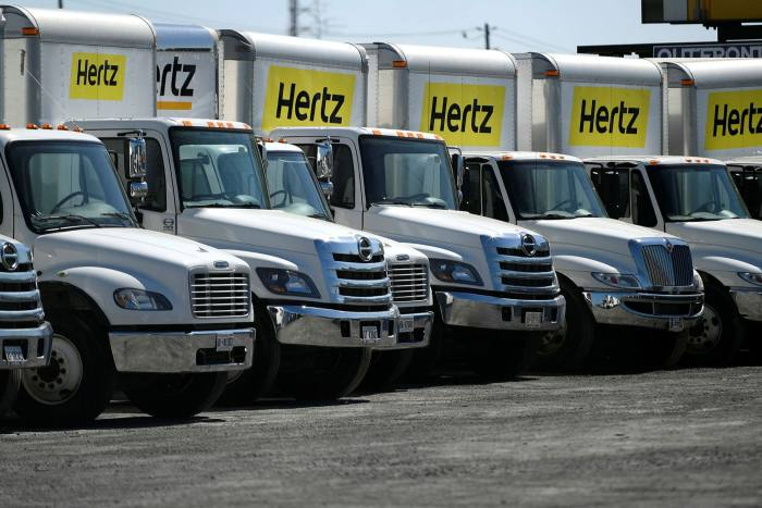 Shares in Hertz, which filed for bankruptcy in May, rallied by 1,500 per cent to their intraday peak on June 8