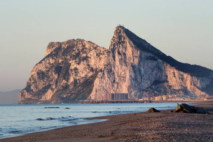 The north face of the Rock of Gibraltar