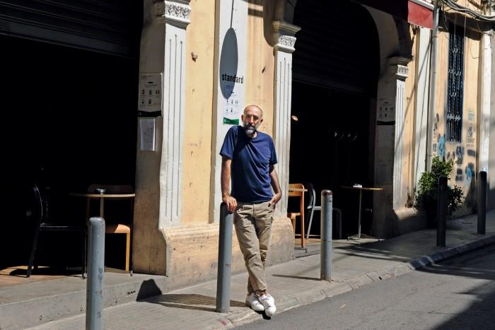 Rabih Kayrouz in front of his studio in Beirut