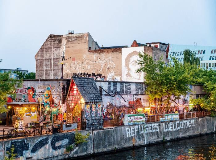 The city's Friedrichshain district is attracting young professionals