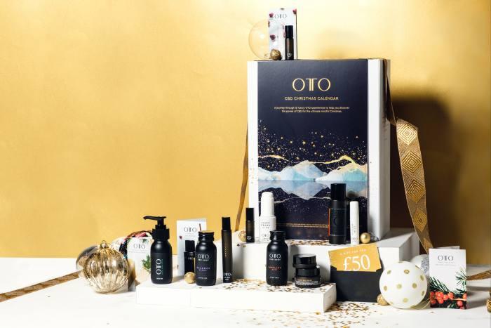 OTO's calendar opens to reveal  12 mini CBD experiences
