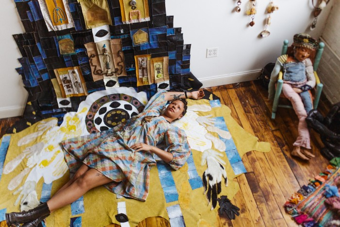 """Tau Lewis works with recycled materials: """"Things hold memories and information...they carry stories with them"""""""