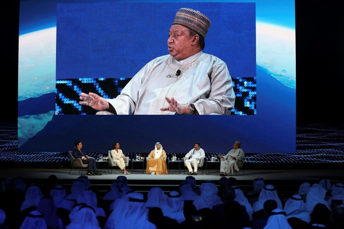 Mohammed Barkindo, Opec secretary-general, says that during the energy transition, 'a shortfall in investments could affect stability in markets, prices could rise, and we could see product shortages, all of which would have an impact on the global economy'