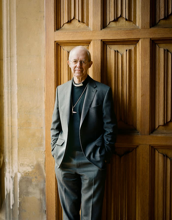 Welby at Lambeth Palace last month