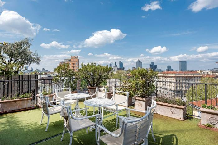 The roof of a five-bedroom penthouse in Brera, € 12.4m