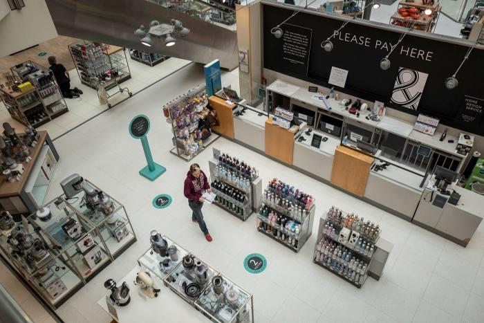 The sales floor at John Lewis's Kingston branch