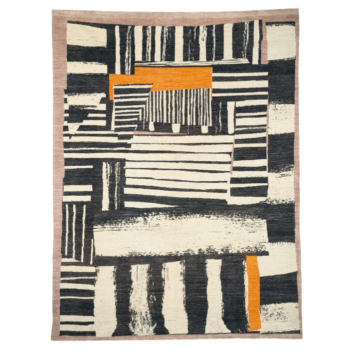 Christopher Farr Afghan-wool Assembled Stripe rug, £14,200