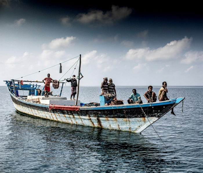 A dhow in the Dahlak archipelago: 'We draw up alongside to exchange a couple of groupers for cans of Coke'