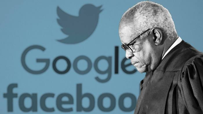 US Supreme Court justice Clarence Thomas has suggested that social media platforms be regulated in a similar way to phone companies