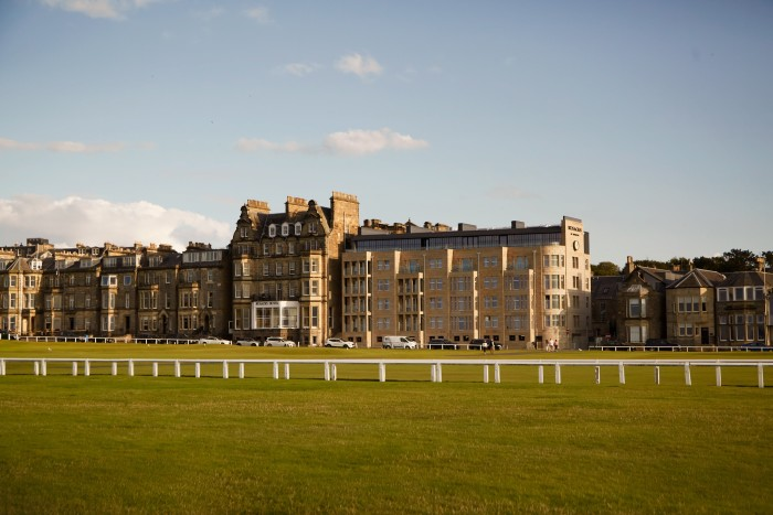 Rusacks St Andrews, with the golf course opposite